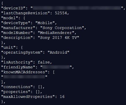 Example metadata leaking by Linksys Smart Wi-Fi routers