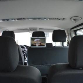 advertising in transfer vehicles morzine, les gets, avoriaz