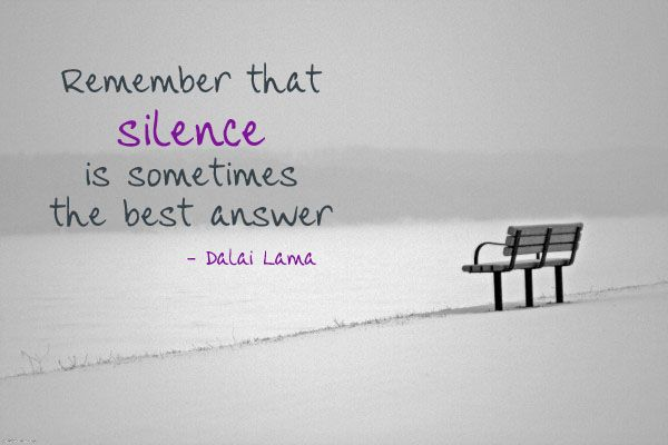 Image result for silence quotes dalai lama