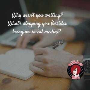 why aren't you writing? BadRedhead Media @BadRedheadMedia