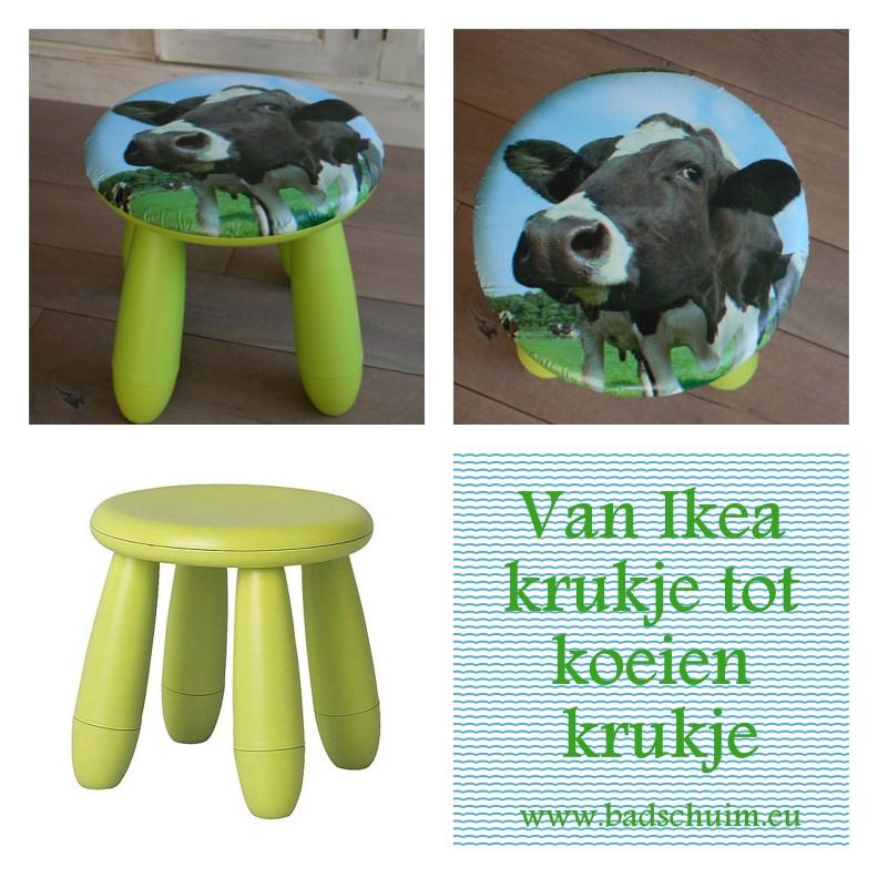 Van Ikea krukje naar koeienkrukje