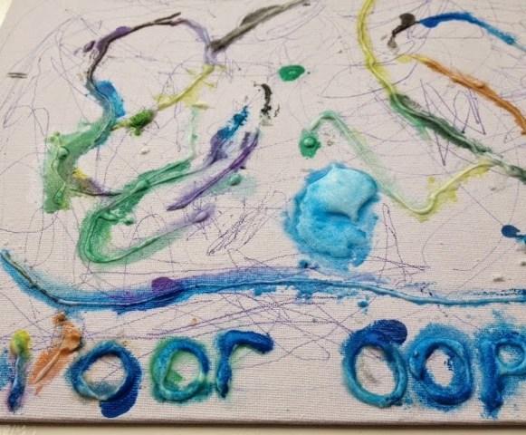 waterverven met lijm en zout I Creatief lifestyle blog badschuim