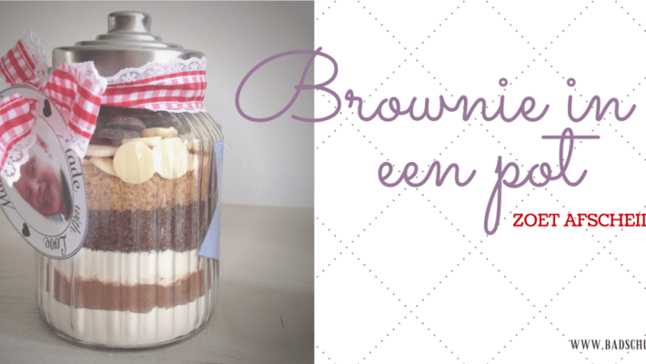 Brownie in een pot DIY door creatief lifestyle blog Badschuim
