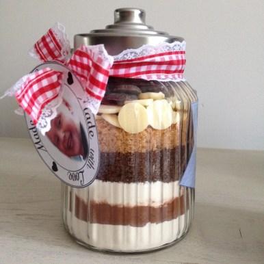 Brownie in een pot, DIY door het creatieve lifestyle blog Badschuim.eu