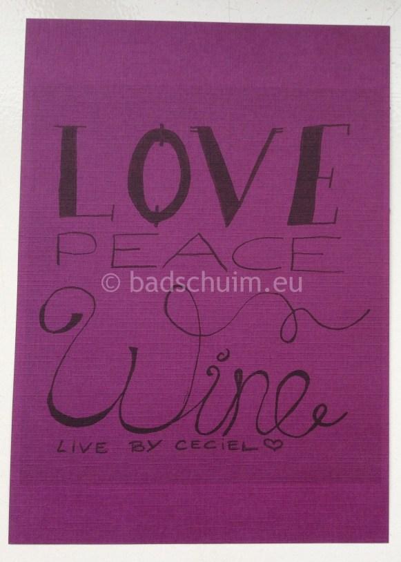 Kaartje Love Peace Wine