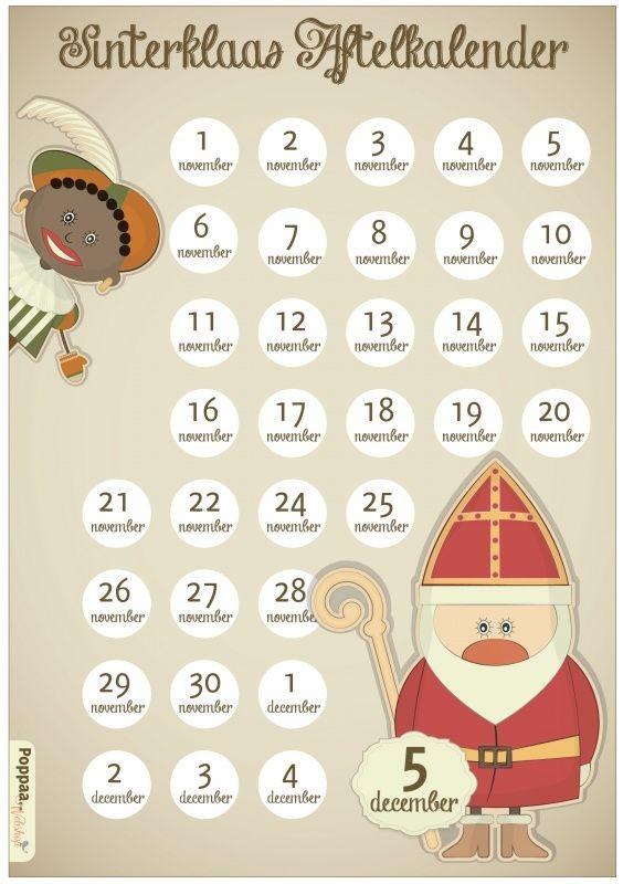 Aftelkalender Sinterklaas