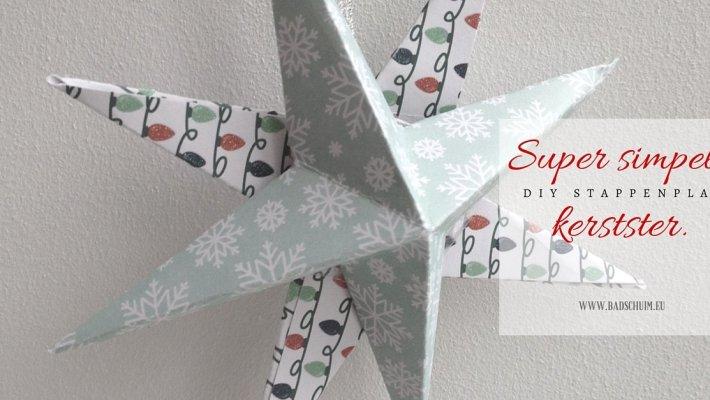 Super simpele kerstster - gemaakt door het creatief lifestyle blog www.badschuim.eu
