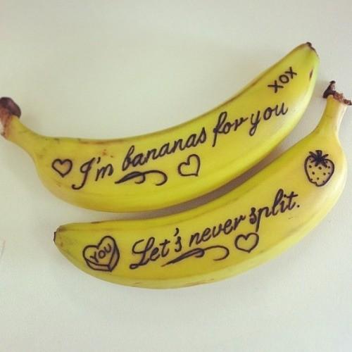 Valentijn inspiratie_boodschap op een banaan_blog badschuim.eu