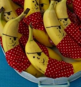 Afscheid kinderdagverblijf banaan traktatie