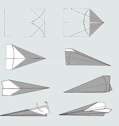 Papieren vliegtuigjes vouwen straaljager I Creatief Lifestyle blog Badschuim