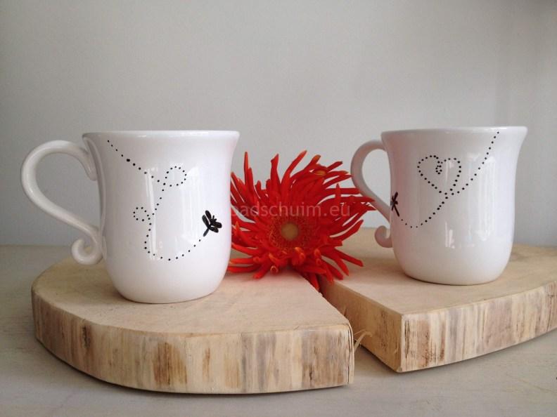 Versier je eigen mok met porseleinstift - DIY I Creatief lifestyle blog Badschuim