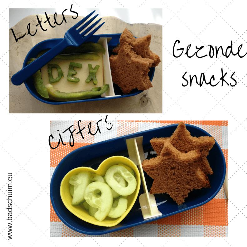 Broodtrommel tips wk 6 - gezonde snacks cijfers & letters I gemaakt door het creatief lifestyle blog Badschuim