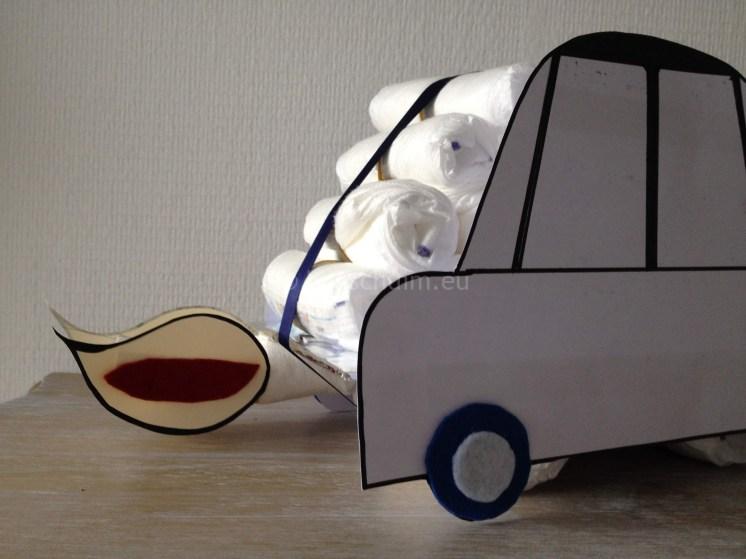 Auto luiertaart maken I gemaakt door het creatief lifestyle blog Badschuim