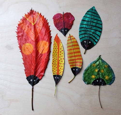 herfst knutselideeen bladeren verven 01 I creatief lifestyle blog Badschuim