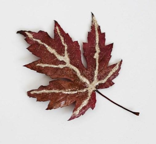 herfst knutselideeen glitter bladeren 01 I creatief lifestyle blog Badschuim