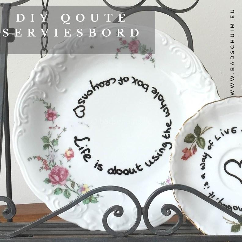 DIY Quote servies bord I resultaat closeup 1 I gemaakt door het creatief lifestyle blog