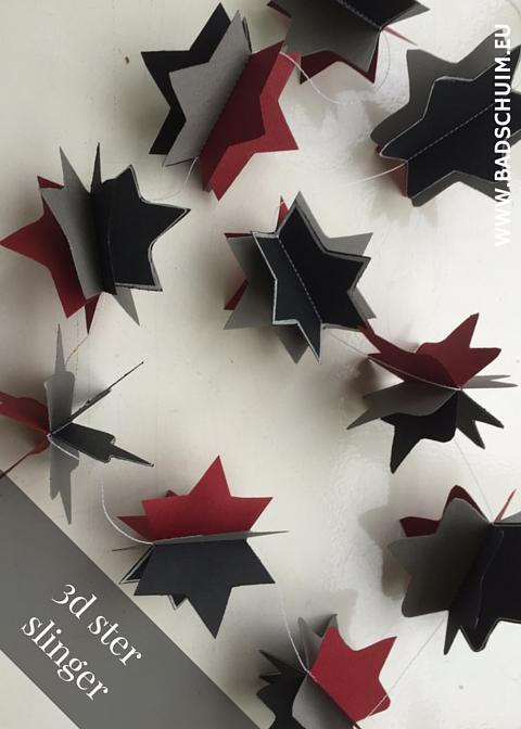 3D Ster slinger DIY - gemaakt door het creatief lifestyle blog www.badschuim.eu