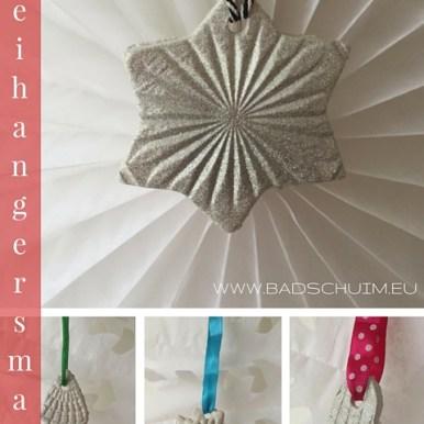 Klei hangers zelf maken- gemaakt door het creatief lifestyle blog www.badschuim.eu