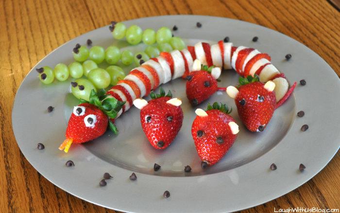 gezonde kinderhapjes: de fruitslang