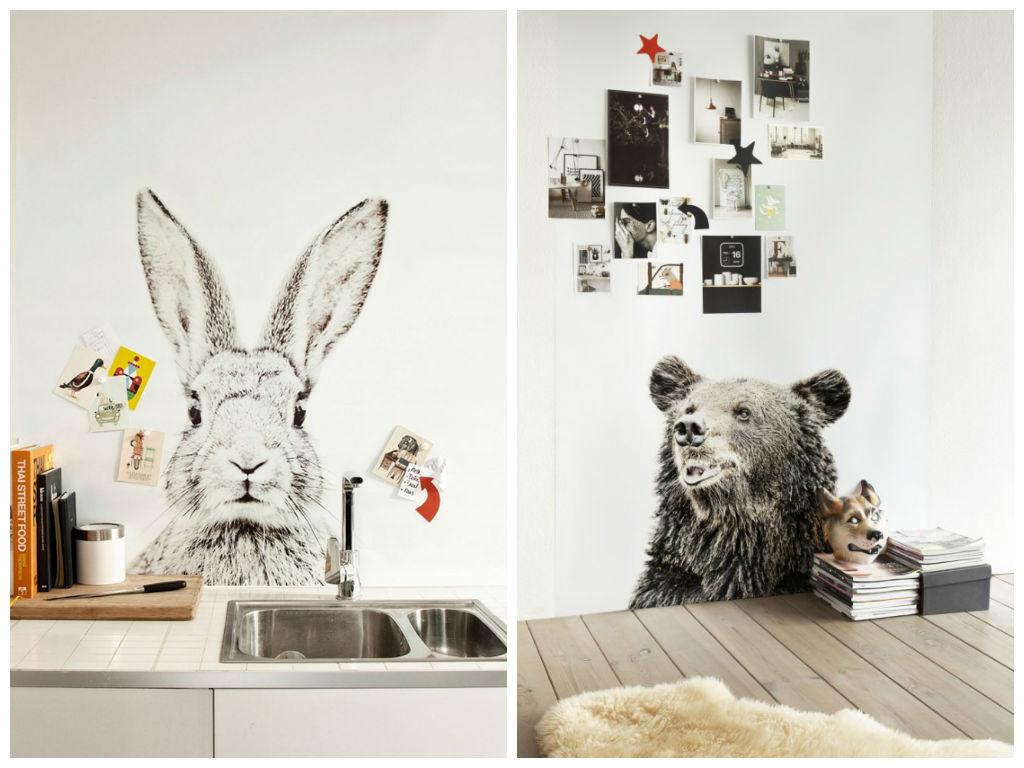 magneet behang dieren