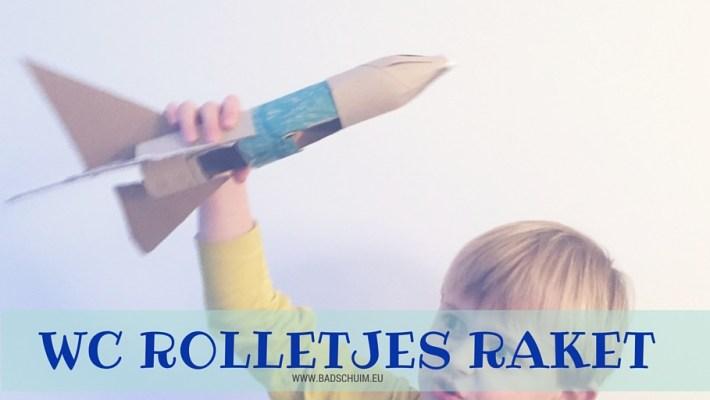 Raket van wc rolletjes I DIY stappenplan I www.badschuim.eu