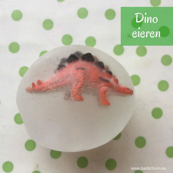 dino ei, dino eieren, maak je eigen dino ei, een dino ei van ijs
