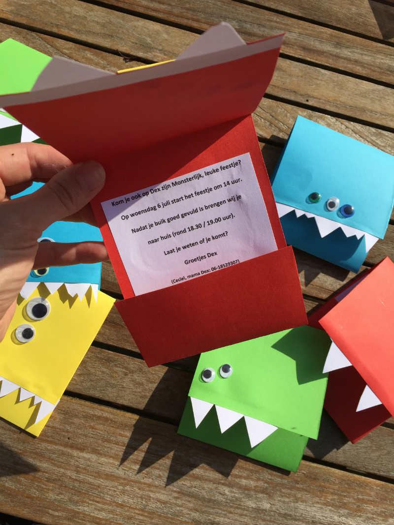 Bekend Monster uitnodigingen maak je simpel zelf met deze DIY! @PU68
