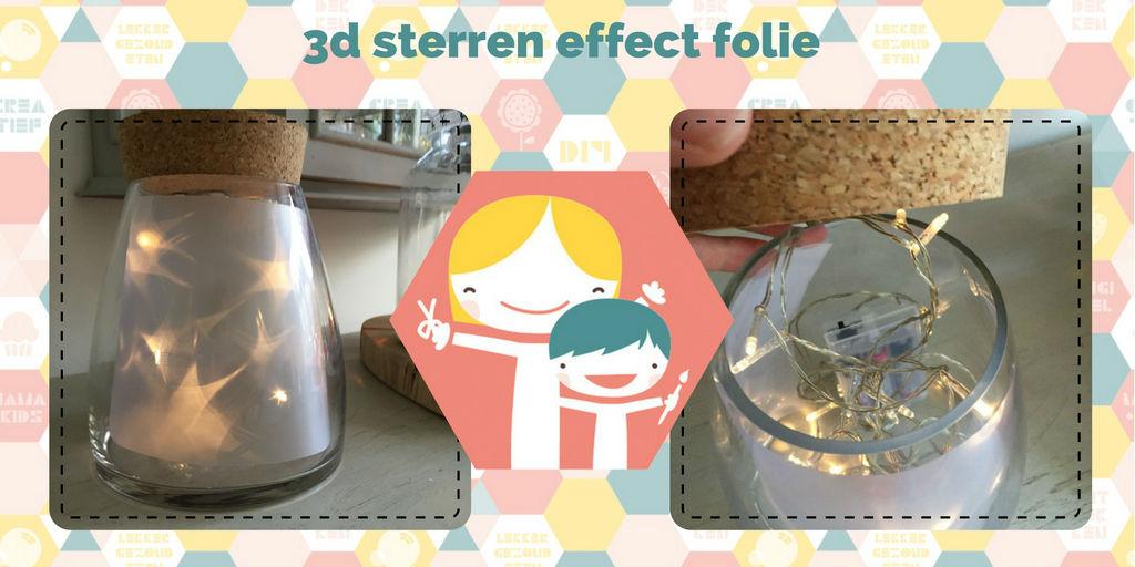 3d sterren effect folie - DIY met magie