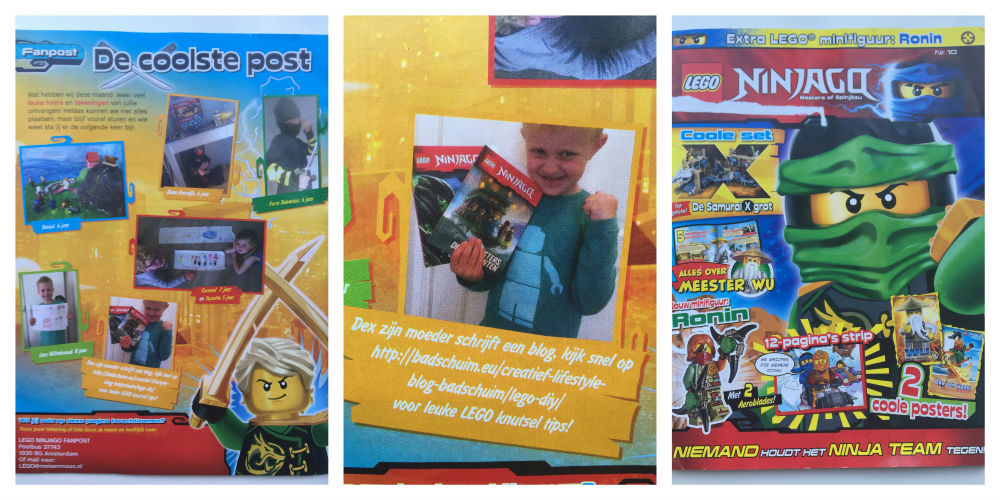In de media Badschuim Lego Ninjago magazine 2016-10