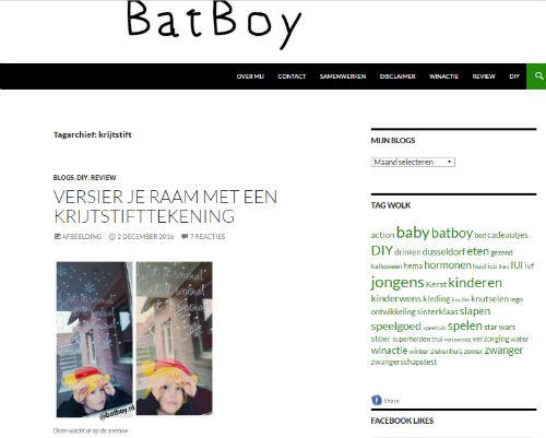 In de media webshop krijtstifttekening BatBoy - 2016-12-02