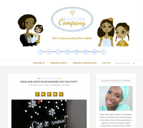 In de media webshop krijtstifttekening Good Girls Company - 2016-12-17