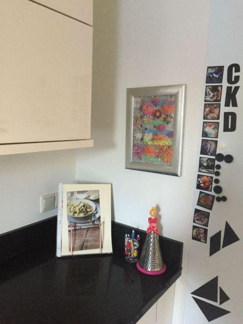 DIY Weekmenu - Krijtstift DIY op fotolijstje