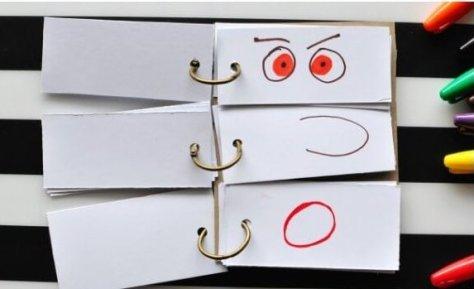 Gezichten 'flipboek' maken met kinderen