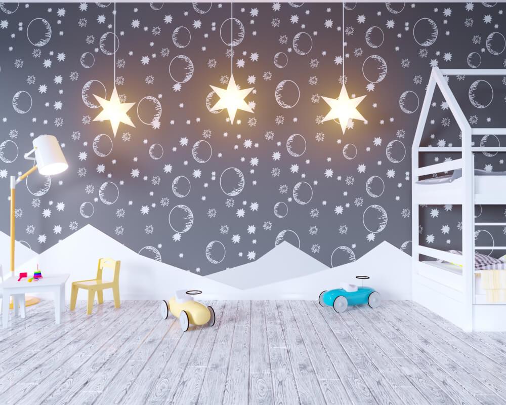 Leuk Behang Slaapkamer : 5x leuk kinderbehang voor in de slaapkamer u2022 badschuim