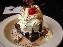 Hot Fudge Brownie with Ice Cream & Vanilla