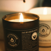 boyfriend candle bearded musk scent