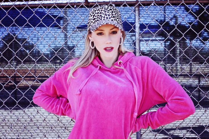 faux leather leopard print hat pink baseball game outfit