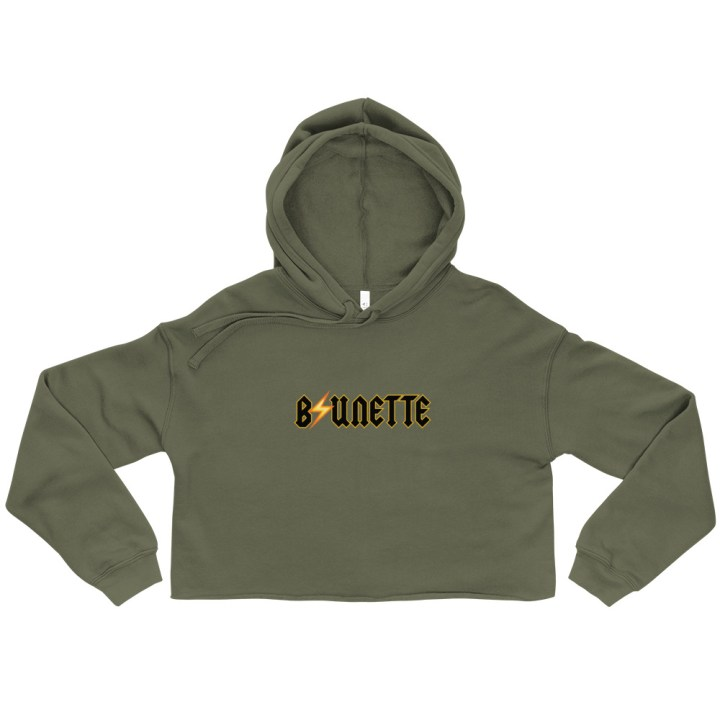 crop hoodie brunette