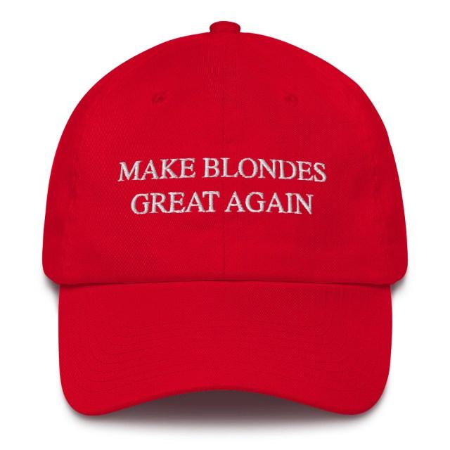make blondes great again dad cap