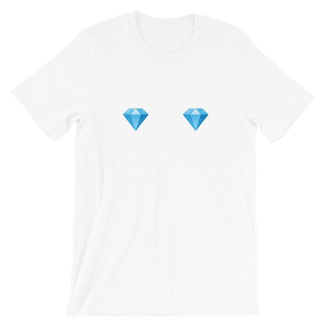 boob shirt with diamonds