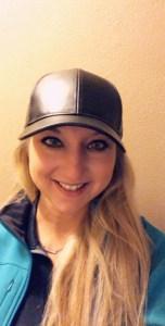 faux leather black baseball hat