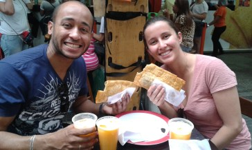 With Fernando and Tânia in the Mercado Municipal :)