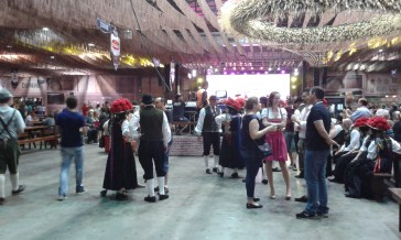 Oktoberfest Blumenau - some people were wearing traditional dresses other than Bavarian, e.g. here from black forest