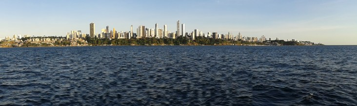 coming back to civilization - Salvador sky line in a failed panorama