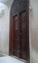 Entrance doors like the one to Mama Raya's house are common