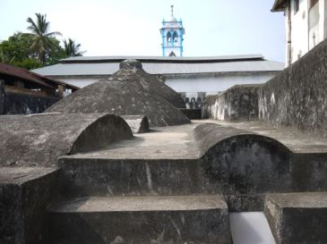 On the roof of the hammam in Stonetown