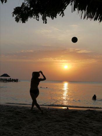 sunset at Mbweni beach