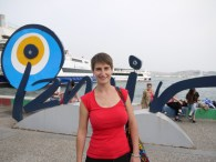 taking the ferry from Karşıyaka back to Konak
