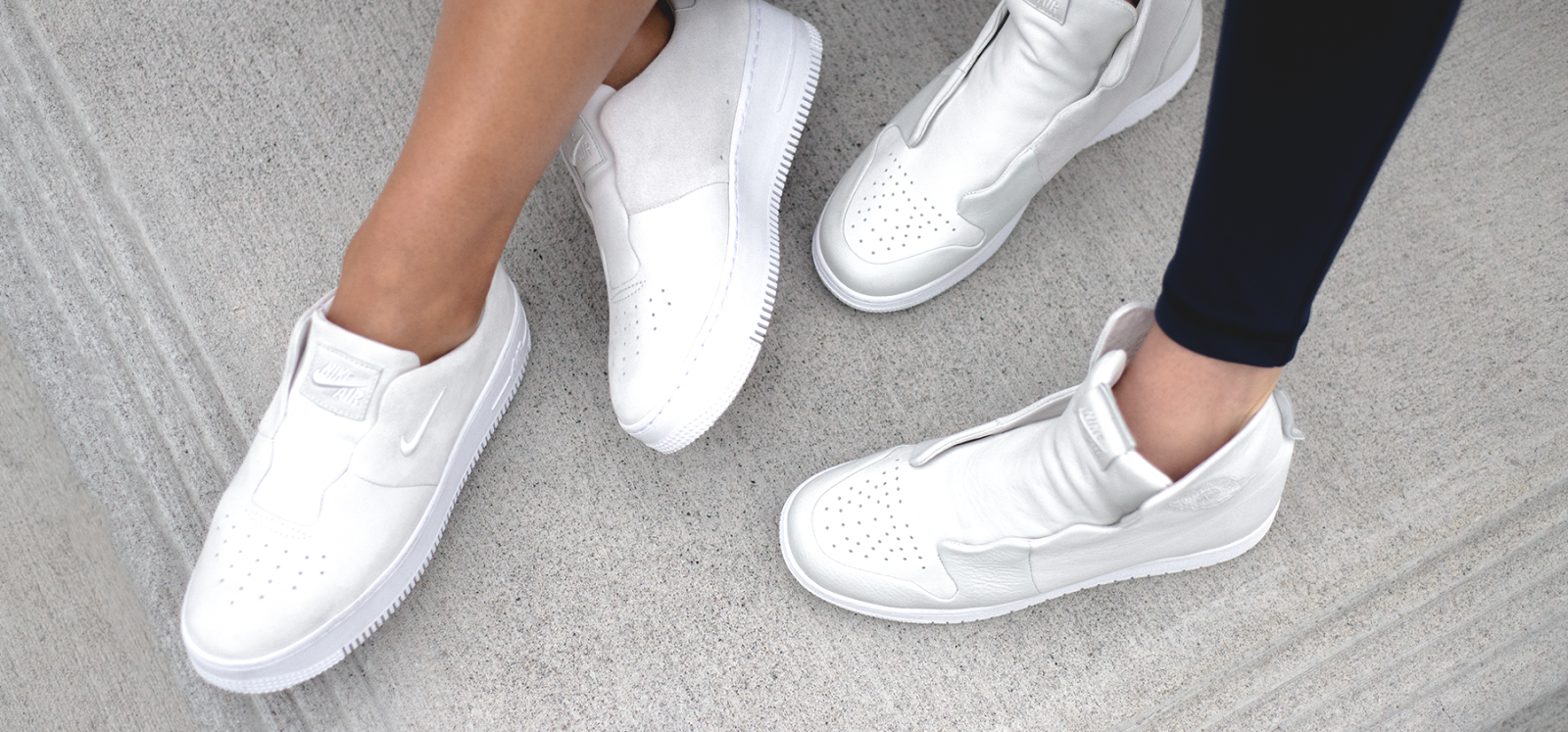 Nike The 1 Reimagined SAGE Air Force Jordan On Feet Closer Look Women Exclusive Female Designer Design Collective Minimalist White