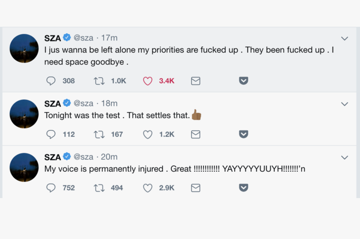 SZA Vocal Chord Damage Singer Cancel Tour Cancelled Kendrick Lamar Championship Tour Health Music